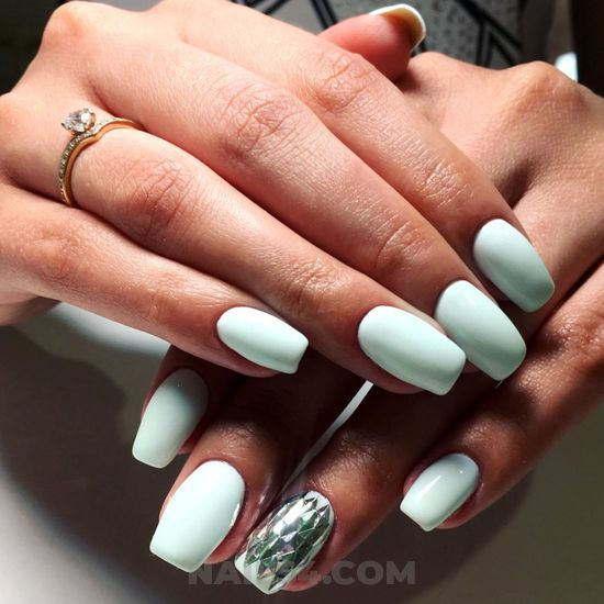 Adorable & simple gel manicure idea - cute, artful, handsome, nail, sweetie