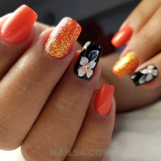 Attractive graceful acrylic nail idea - lovely, diy, fashionable, nailart