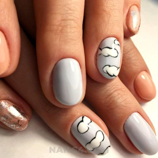Awesome & pretty acrylic nails art design - nails, graceful, star, trendy, cute