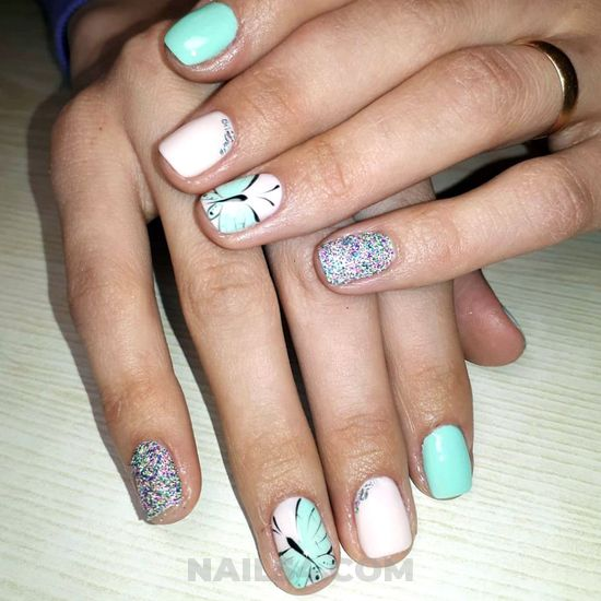 Birthday and loveable nail art - wonderful, nailart, nailideas, diy