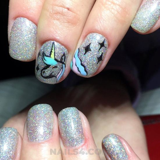 Casual and handy gel nail art ideas - simple, amusing, naildesigns, nail