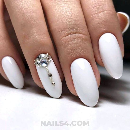 Casual and hot parisian acrylic manicure design - nail, best, gotnails, sweet