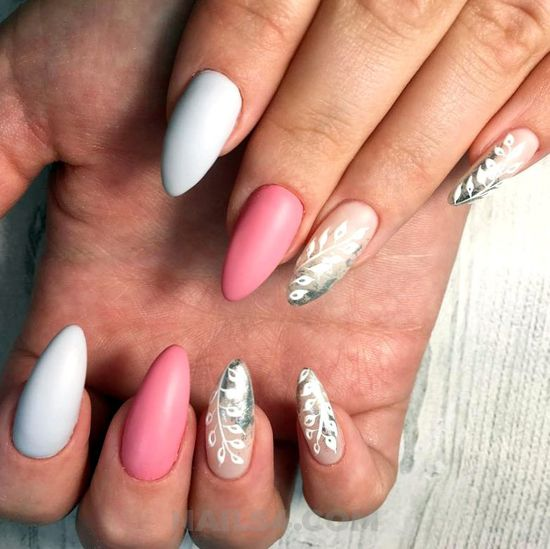 Charming wonderful acrylic nail style - getnails, shiny, nail, nailartdesign