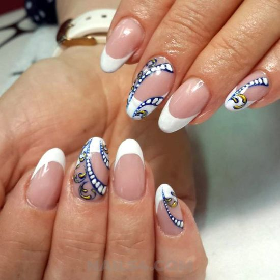 Creative and hot acrylic manicure trend - nail, nailstyle, top, star