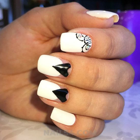 Cutie & pretty acrylic manicure idea - fashion, sexiest, nailstyle, nail