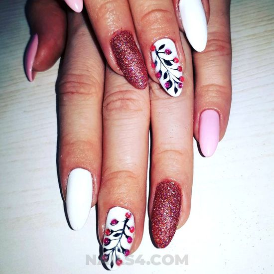 Cutie trendy acrylic manicure art design - nailideas, nail, getnails, royal