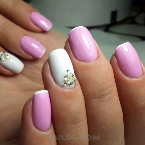 Dainty and glamour parisian gel manicure design ideas - graceful, cool, nails, nailtech
