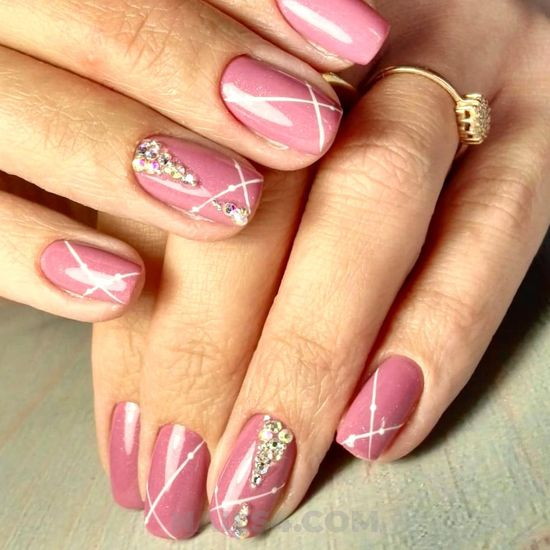 Dainty loveable gel manicure art - magic, handsome, nail, naildiy