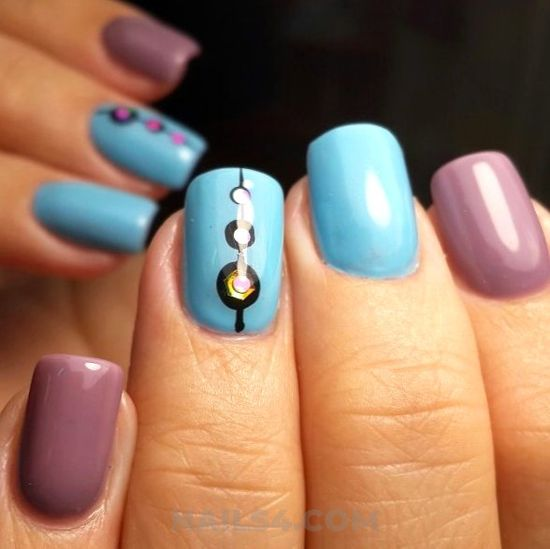 Dainty & wonderful gel manicure art design - teen, top, nailart, nailideas