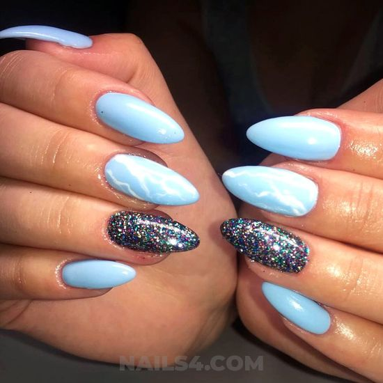 Fantastic and lovable acrylic manicure art - delightful, awesome, shiny, nails