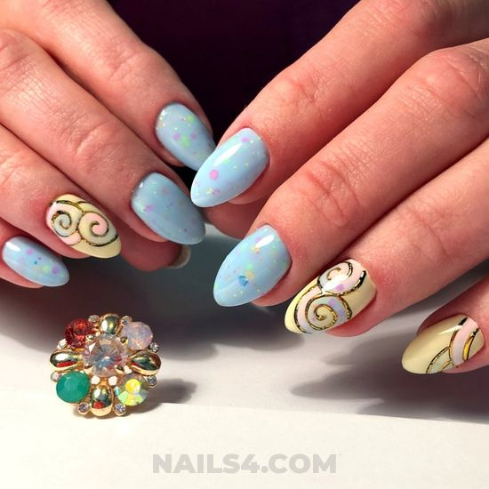 Fantastic and nice acrylic nails idea - enchanting, nail, nailstyle, simple