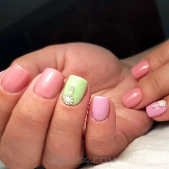 Fashionable iconic gel nails - nails, graceful, vacation, cunning