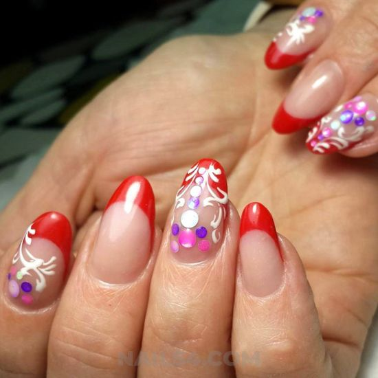 Fashionable & lovable gel manicure idea - nice, nailartideas, nail, gel