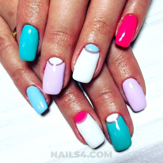 Feminine and lovely gel manicure art design - naildiy, art, nailidea, nails