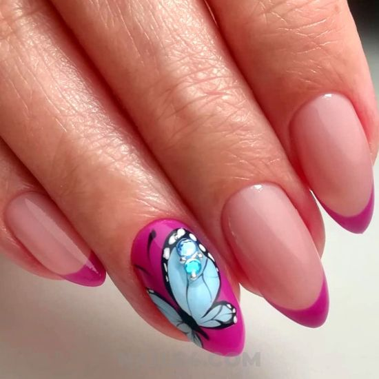 Feminine and trendy manicure ideas - cool, nails, nailswag