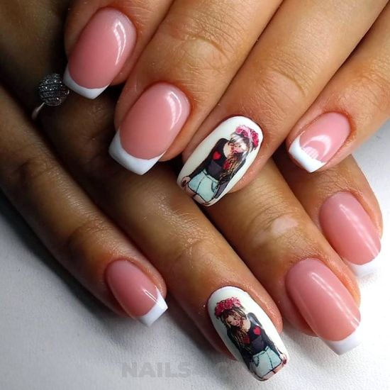 Feminine & nice parisian acrylic nails design ideas - fashion, nails, awesome, sweet