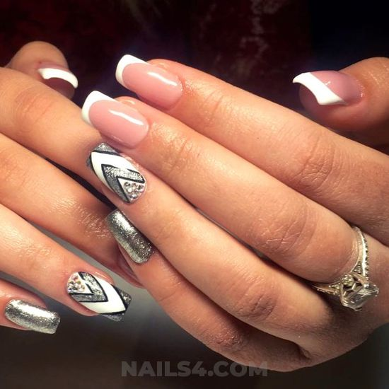 Feminine & simple acrylic nail style - nailtech, cute, art, nail, nailstyle
