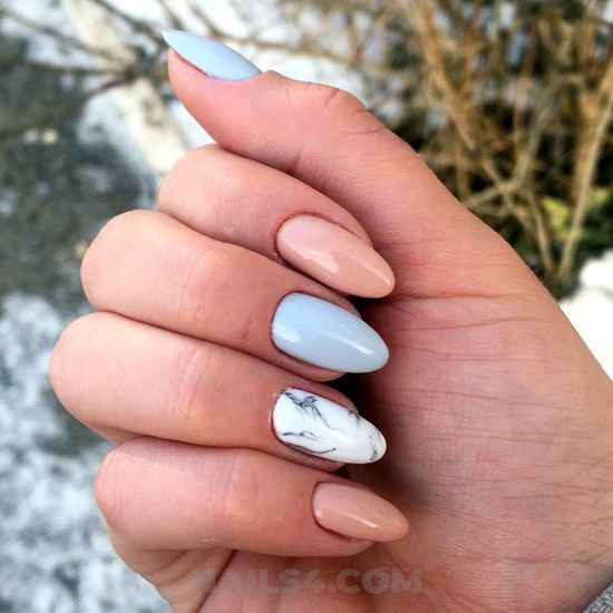 Fresh and lovable manicure style - trendy, gotnails, weekend, nailart