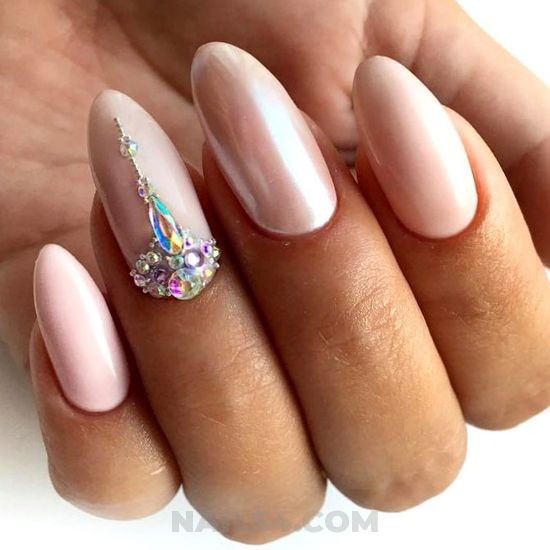 Fresh & nice gel manicure design - classic, nail, naildesigns, naildiy