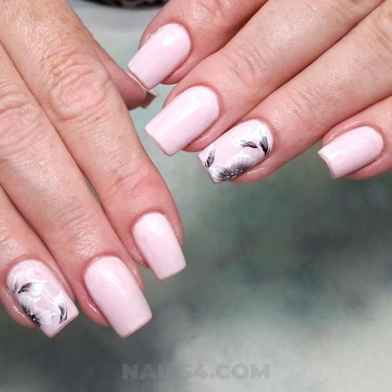 Glamour and elegant gel manicure design - cute, style, nice, nails
