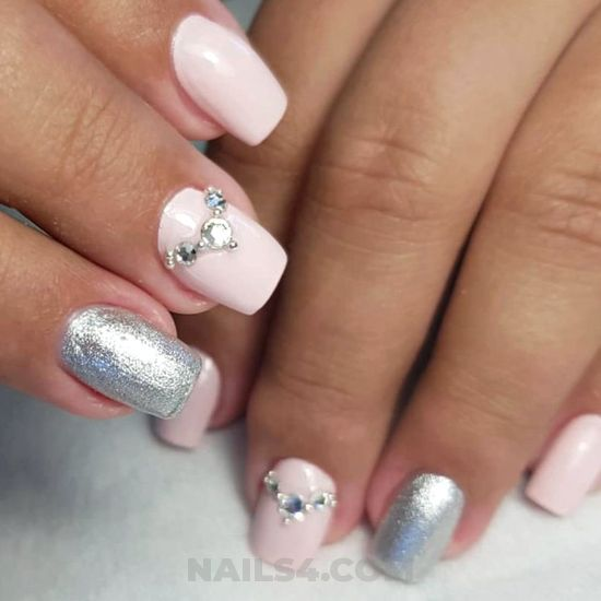 Glamour classic gel nail art ideas - cool, selfnail, nails, nailstyle