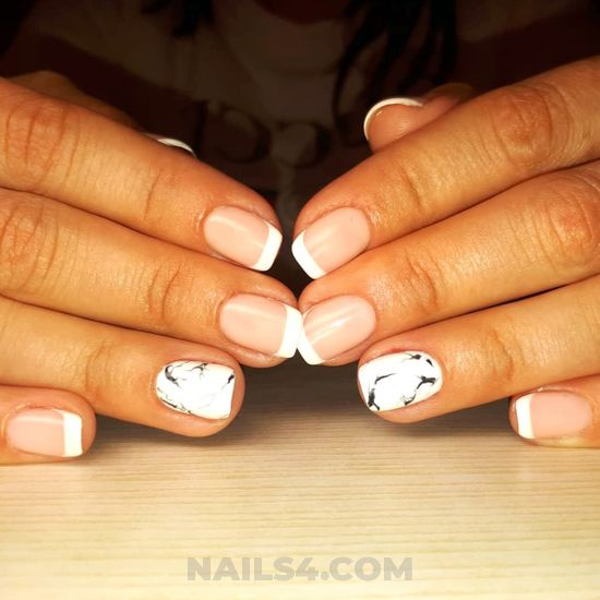 Gorgeous and cute gel nail design - nail, nailidea, clever