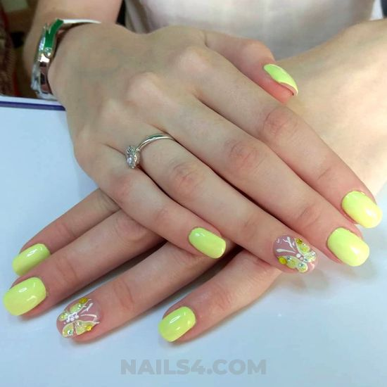 Gorgeous and fashion acrylic manicure style - design, nails, naildesign, simple