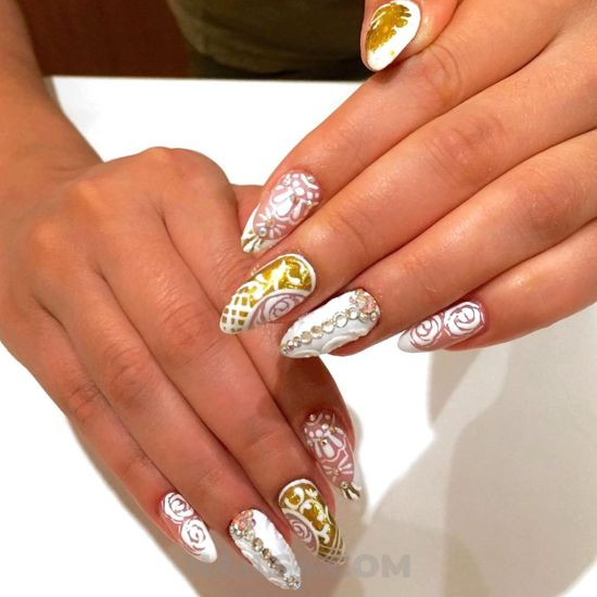 Gorgeous attractive acrylic manicure design - gelnails, super, nail, beautyhacks