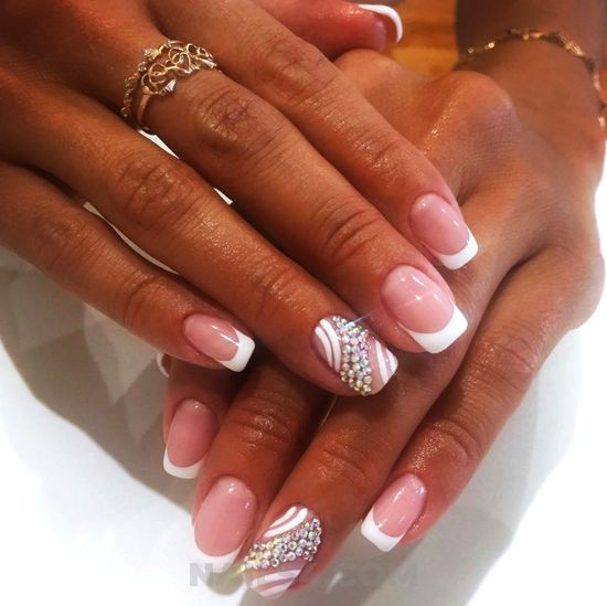 Gorgeous & balanced american gel manicure design - handsome, nails, nailideas, diy, top