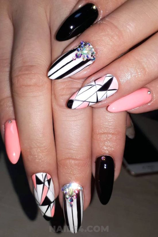 Graceful and balanced acrylic manicure art ideas - vacation, nails, cool, nailpolish