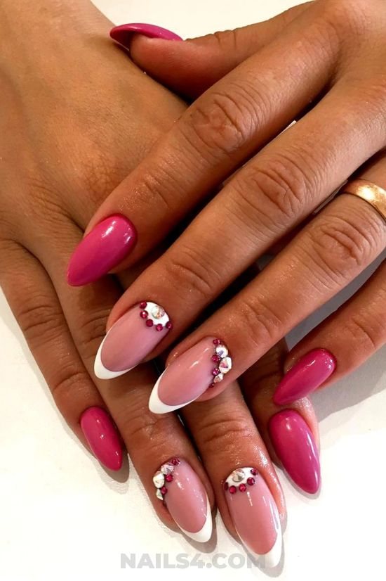Graceful & ceremonial gel nails art - nail, trendy, elegant