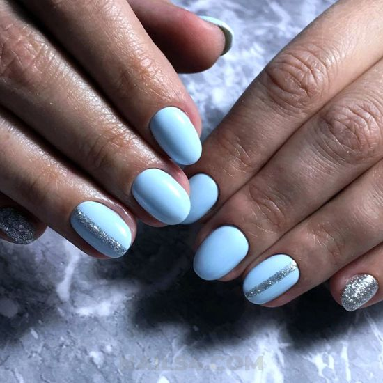 Handy and classy american manicure trend - delightful, nail, hilarious