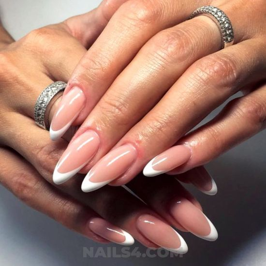 Iconic fresh manicure style - idea, nail, naildesign, love, elegant