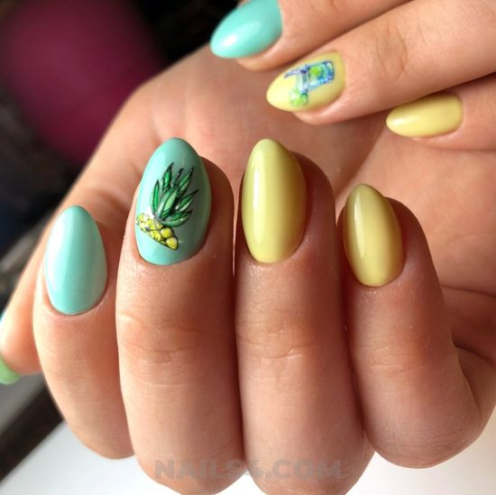 Inspirational casual acrylic nails art ideas - handsome, idea, top, nail, nailideas