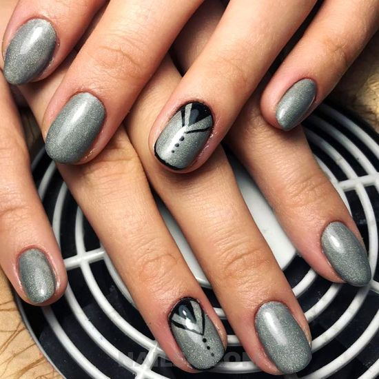 Lovely and attractive parisian manicure style - amusing, cool, sexy, nail