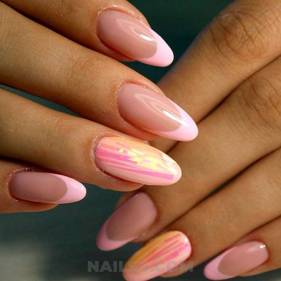 My girly iconic gel nails art - vacation, diy, fashion, nail, nice