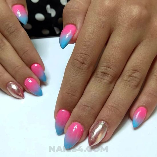 My girly & unique american manicure ideas - shiny, naildesign, nail, best