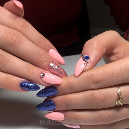 My iconic and cute acrylic manicure art design - elegant, vacation, sweetie, nails