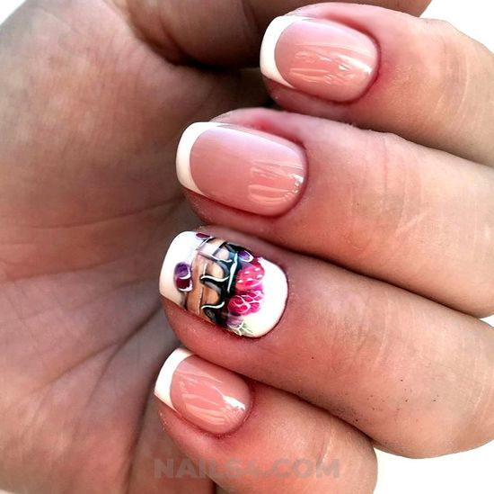 Neat & classic american nails idea - fashionable, nail, sweet, classic