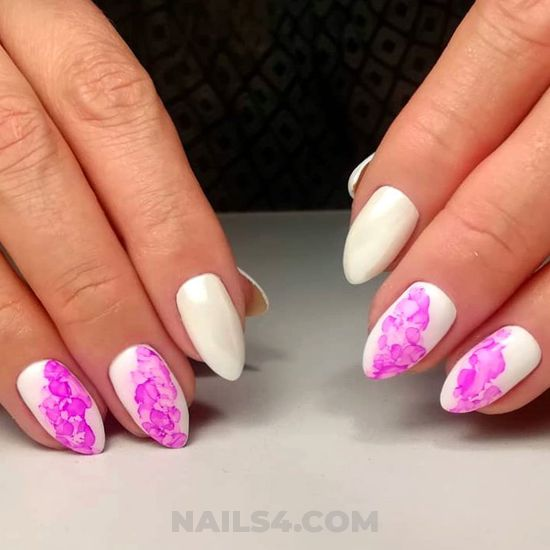 Nice and delightful acrylic manicure style - royal, pretty, nail, diy