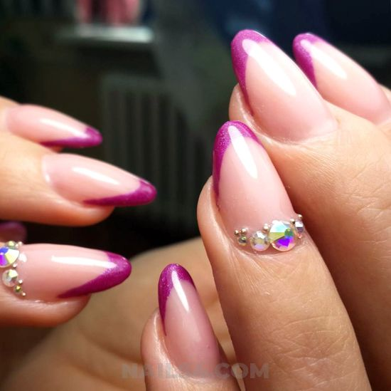 Perfect girly nail trend - gel, nails, nailstyle, gorgeous