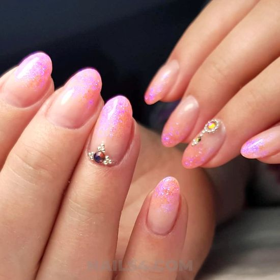 Simple and balanced american acrylic nail - nail, naildesign, style, nailswag