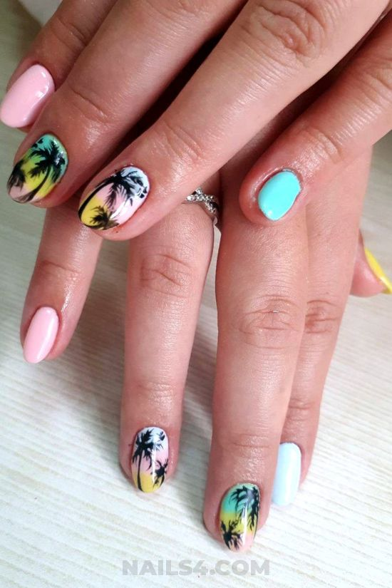 Simple & charming acrylic nail art - nailartideas, nailart, style, diy
