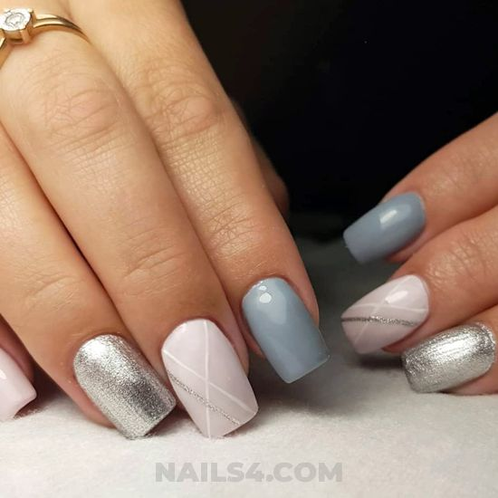 Simple chic gel manicure style - plush, teen, nails, naildesign, cool
