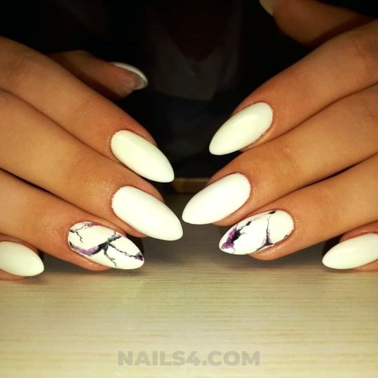 Trendy & charming nail design ideas - nails, naildesign, graceful, gel