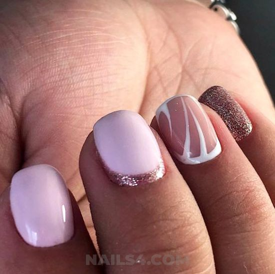Trendy & fashionable nail ideas - idea, diynailart, nailart, glamour