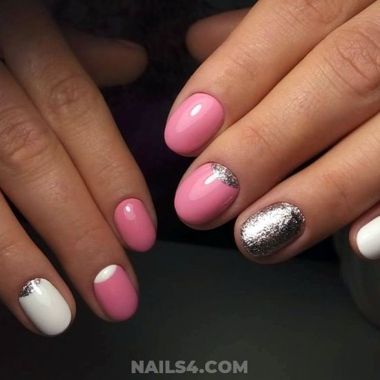 Attractive Unique Gel Nail Art Ideas - royal, cute, nails, nailartdesigns