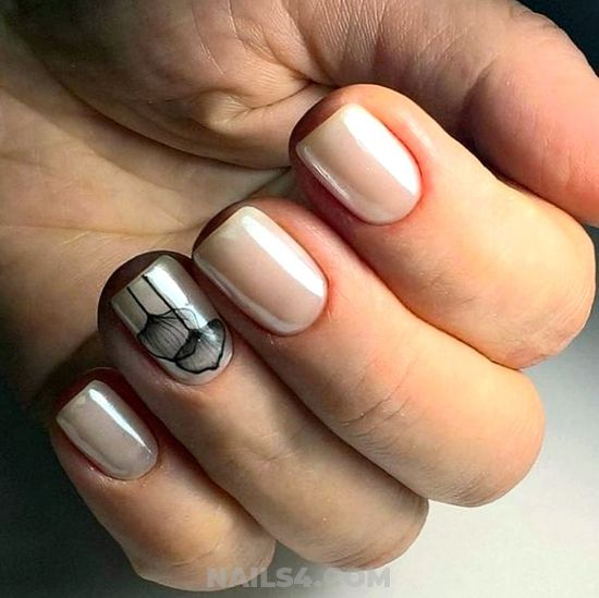 Beautiful And Easy American Acrylic Manicure Trend - graceful, nails, nailidea, loveable