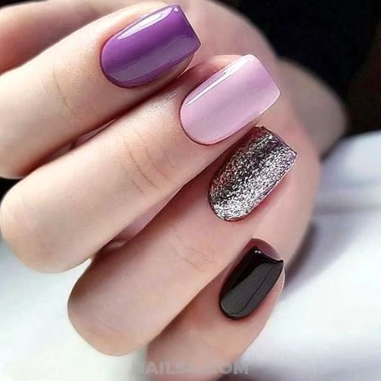 Best Lovable Gel Nail Art Design - selfnail, artful, diy