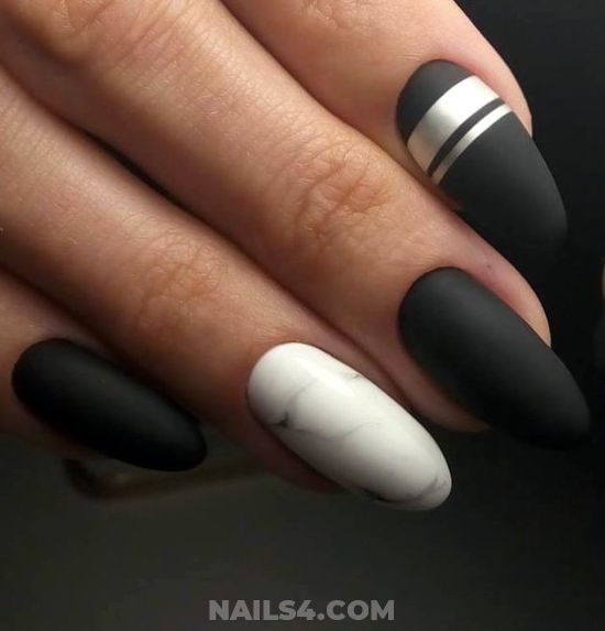 Casual And Graceful Manicure Idea - nail, nailartideas, graceful, dainty